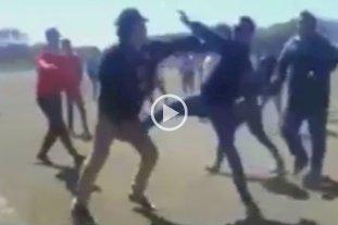 Video: La indignante pelea entre padres, entrenadores y jugadores en las inferiores de la Liga Chaqueña