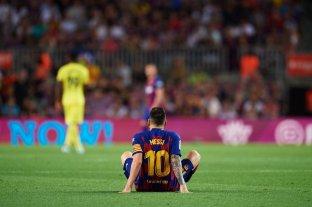 Lionel Messi se retiró lesionado en la victoria de Barcelona sobre Villarreal