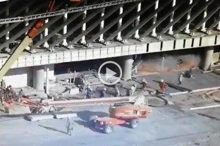 Video: el momento del derrumbe en el aeropuerto de Ezeiza