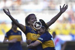 Boca goleó 5-0 a River en el primer superclásico de la liga de fútbol femenino