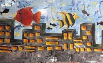 Muestra de pinturas de Azul Santillana