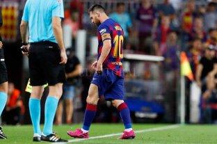 Es oficial: Messi tiene una elongación en el aductor del muslo izquierdo