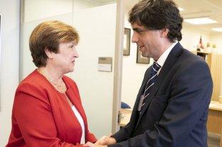 Lacunza y Sandleris viajan a EEUU para reuniones con el FMI y el Banco Mundial - Kristalina Georgieva (FMI) y Hernán Lacunza -