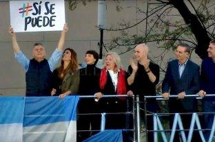 Macri lanza su campaña con una marcha en Belgrano