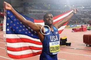 Christian Coleman ganó la final de 100 metros llanos en el Mundial de Atletismo