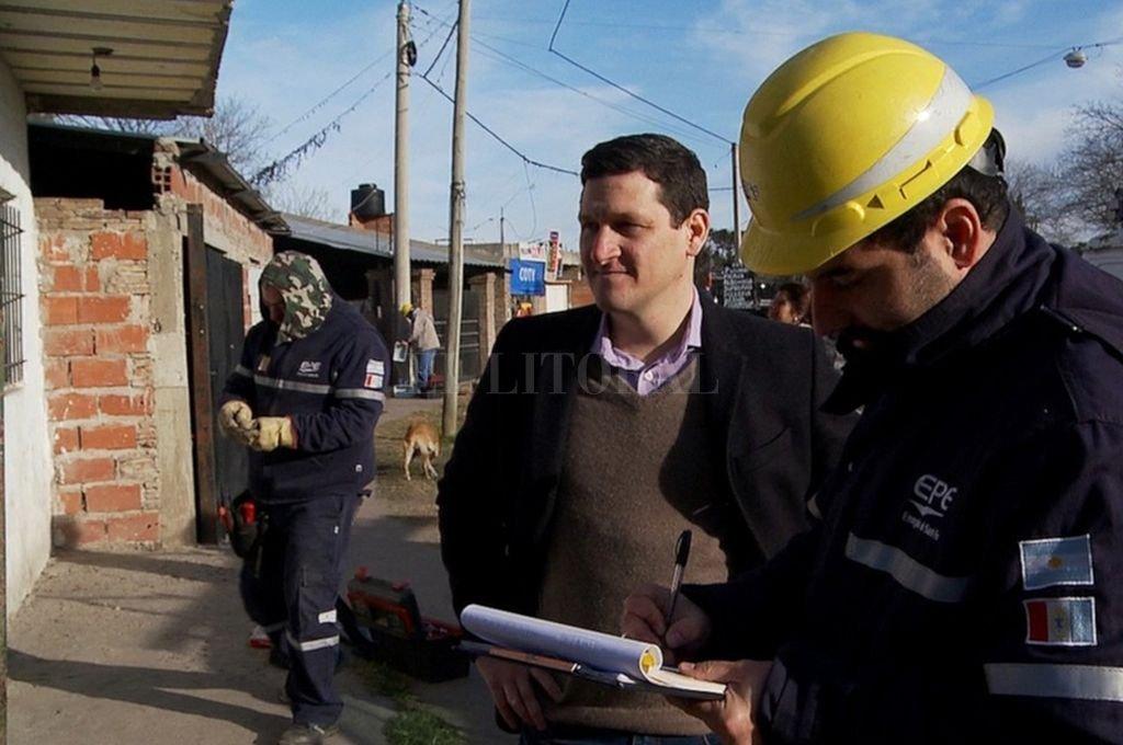 Maximiliano Neri en los allanamientos en el sur provincial. Crédito: Gentileza