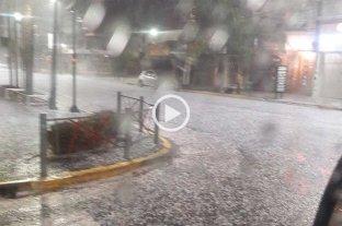 Video: tormenta y granizo en Buenos Aires