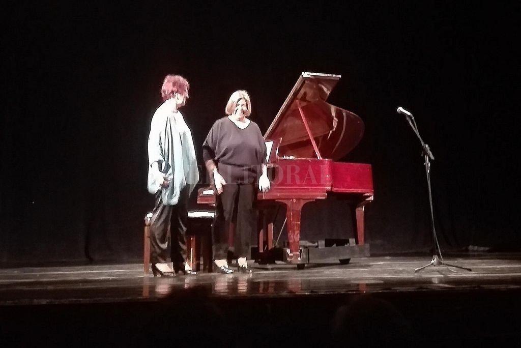 Sylvia Eymann y Lilia Vieri propusieron un programa de piano a cuatro manos, que fue de Robert Schumann a Carlos Guastavino. <strong>Foto:</strong> L.S.