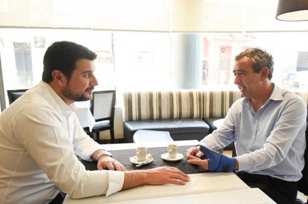 Diputado nacional kirchnerista Marcos Cleri e intendente electo de Rosario, Pablo Javkin. <strong>Foto:</strong> Captura de Internet