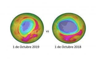 Importante disminución en el agujero de ozono