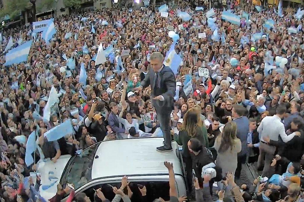 Macri en Rafaela. <strong>Foto:</strong> Gentileza
