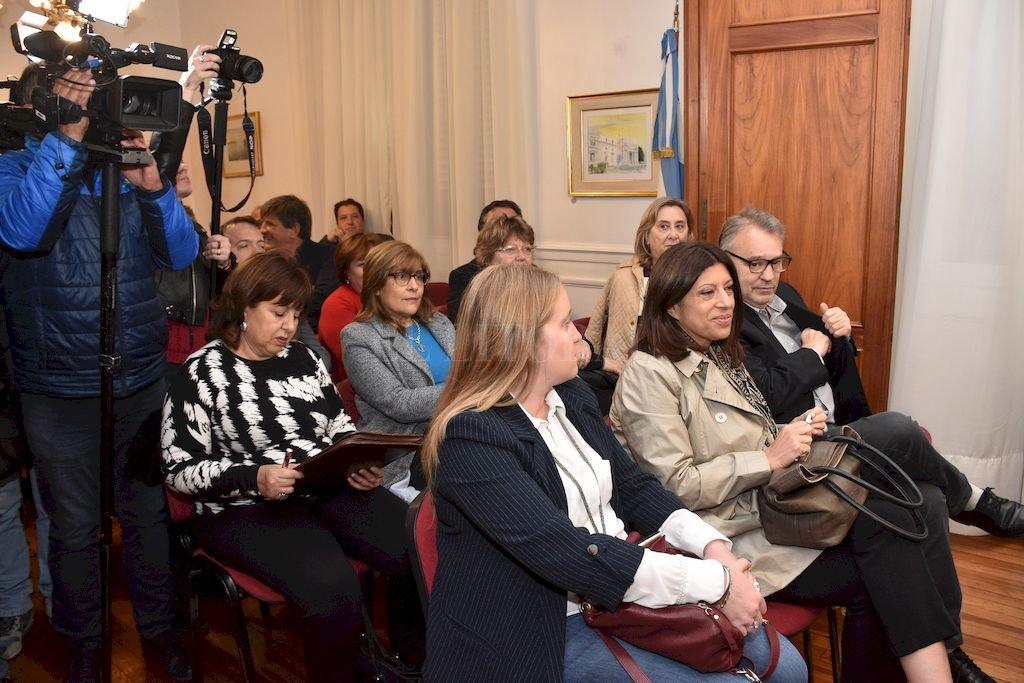El oficialismo llevó buen número de diputados a la reunión con Pullaro por el tema seguridad. <strong>Foto:</strong> Flavio Raina