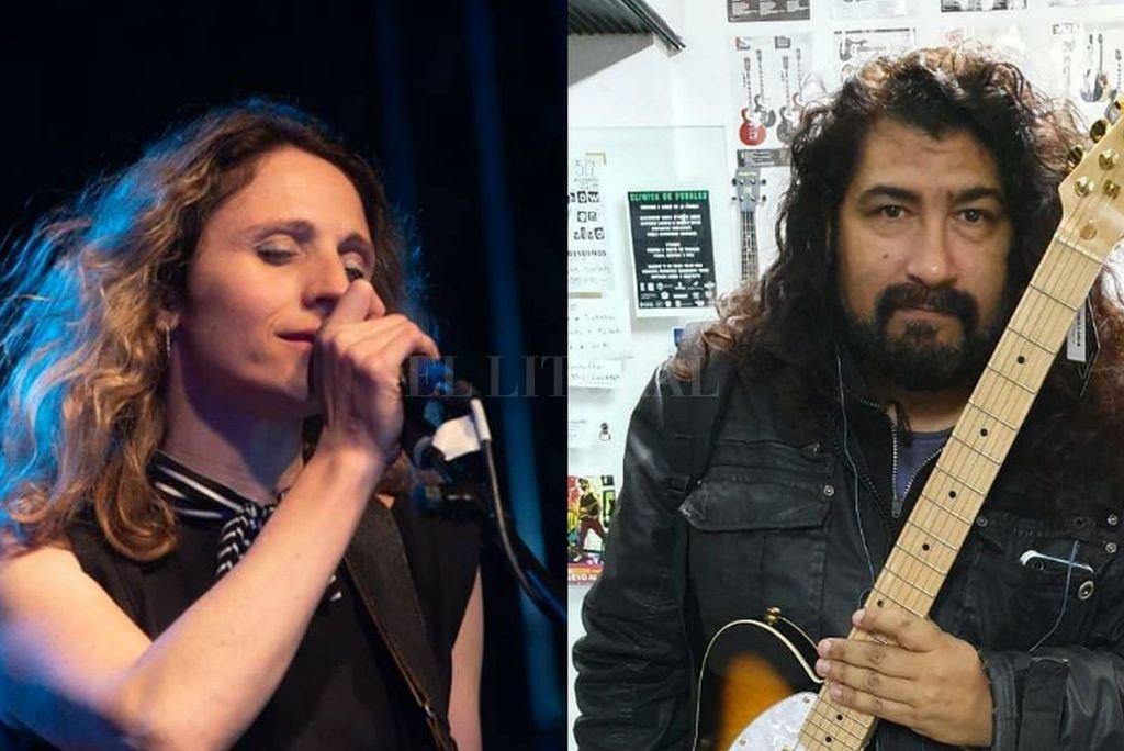 Alejandra Papini (voz y guitarra de Diamantina) y Raúl Segades (cantante y guitarrista de Segades) serán protagonistas de la velada. <strong>Foto:</strong> Gentileza de los artistas