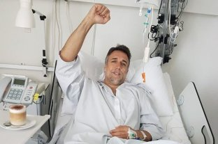 Gabriel Batistuta se recupera mientras tomá café