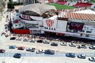 Desde el drone: el estadio 15 de Abril ya está listo para Unión - Colón