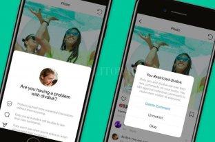 Instagram lanza una función para ayudar a combatir el bullying