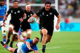 Los All Blacks golearon a Namibia y se clasificaron a cuartos de final