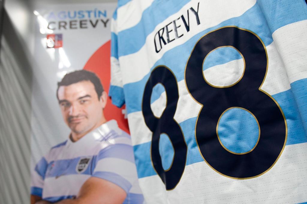 Agustín Creevy, el jugador que más veces se puso la camiseta de Los Pumas. Crédito: Gentileza.