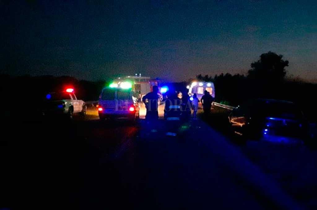 En el ingreso de Laguna Paiva se produjo un fuerte choque que dejó tres muertos <strong>Foto:</strong> Gentileza