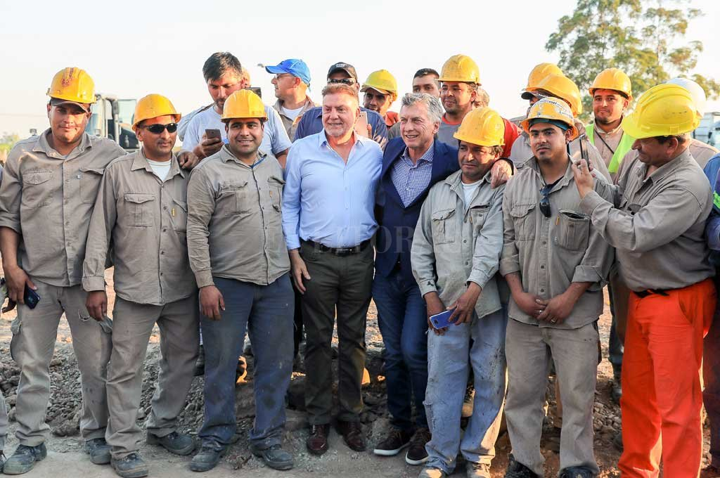 Macri en su visita a la provincia de Tucumán Crédito: Télam