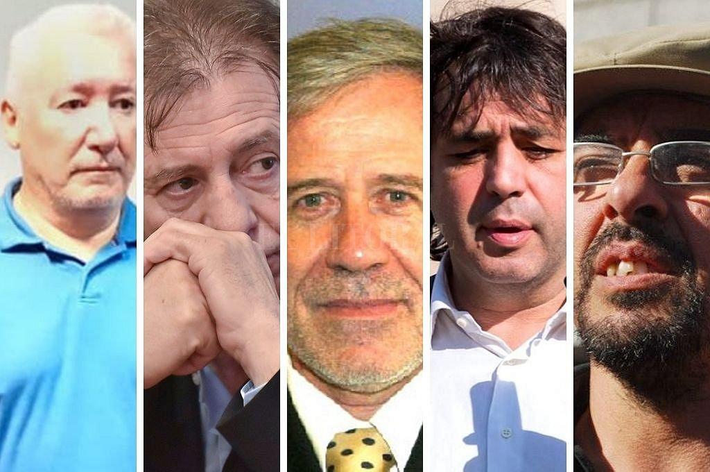Carlos Cortez, Cristóbal López, Gerardo Ferreyra, Fabián De Souza y Fernando Esteche. Crédito: El Litoral