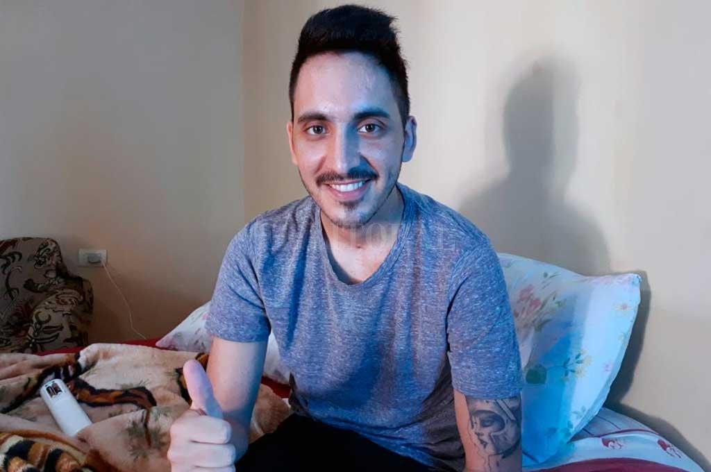 Al cabo de un mes de estar internado, Joaquín recuperó su sonrisa <strong>Foto:</strong> Danilo Chiapello
