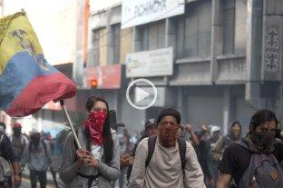 Tensión en una nueva jornada de protestas en Ecuador