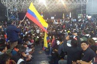 """Indígenas advirtieron: """"Esto no para hasta que el FMI se vaya de Ecuador"""""""