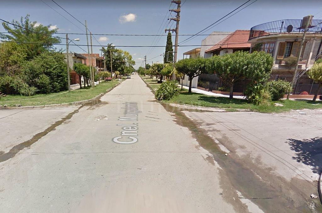 Intersección de las calles Río Cuarto y Murguiondo, donde se produjo el asesinato del adolescente. <strong>Foto:</strong> Captura digital - Google Maps Streetview