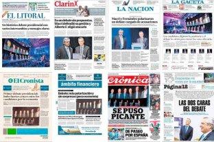 Así reflejaron las tapas de los principales diarios el debate presidencial hecho en Santa Fe