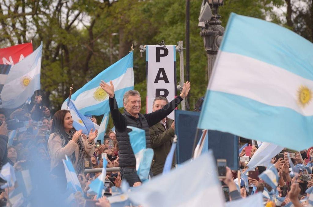 """Macri convocó a """"votar el domingo"""" por el """"orgullo de ser argentinos"""". Crédito: Gustavo Cabral"""
