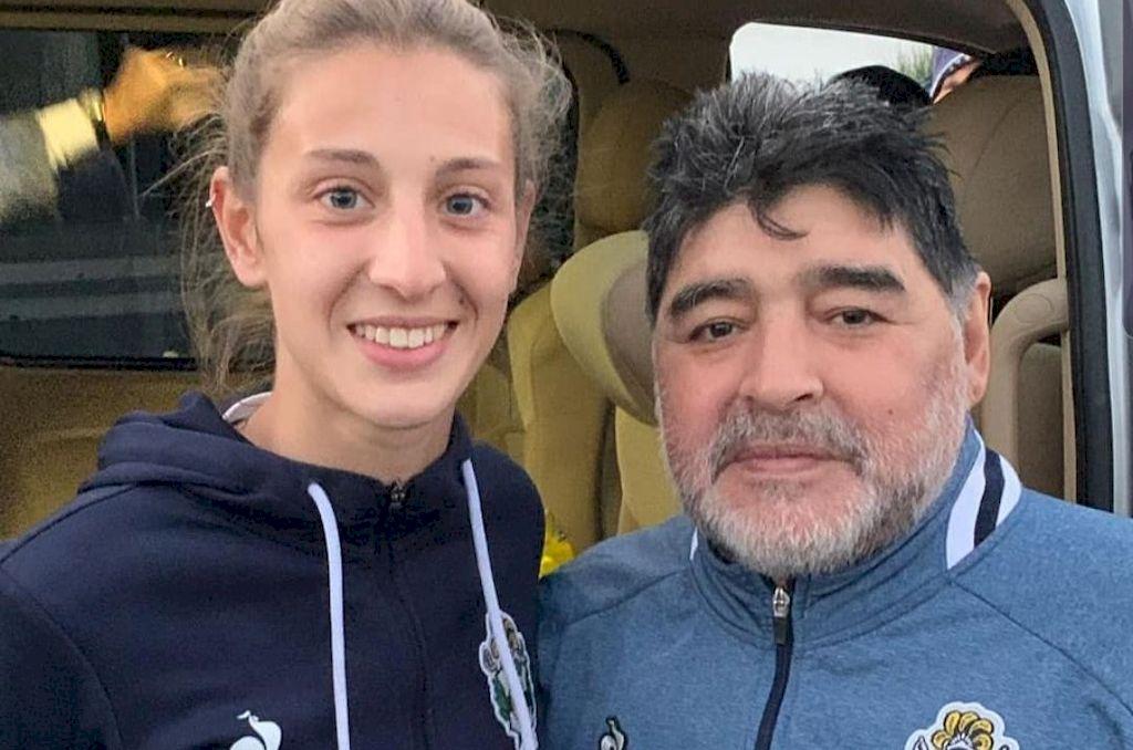 Crédito: Maradona con Lucía Guiñazú