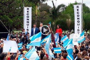 """Macri en Santa Fe: """"Ustedes son el corazón, la fuerza y el verdadero motor de este país"""" -  -"""