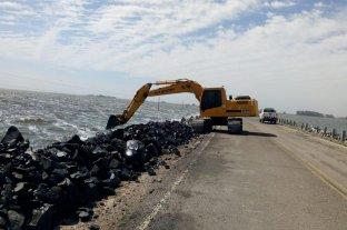 Ruta 7: avanzan los trabajos para restablecer la circulación a la altura de la laguna La Picasa