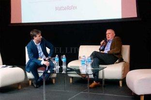 Tradiciones, finanzas y nueva economía - Marcos Hermansson, vicepresidente del MAtbaRofex, durante su exposición en Expoinversiones Rosario. -