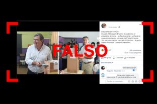 Cadena viral en WhatsApp: es falso el mensaje sobre fraude en las elecciones de Chaco -  -
