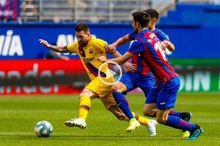 Gol y asistencia para Messi en la goleada del Barcelona ante Eibar -  -