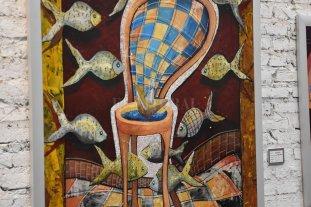"""""""Mi 100%"""" - Una de las pinturas de tamaño medio-mayor realizadas especialmente para la serie en los últimos meses."""