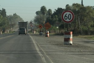 "Hoy la gente ""corta"" la Ruta 34 en Sunchales  - La Ruta 34, previo a llegar a Sunchales -"