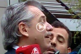 """Video: Alberto Fernández, otra vez contra un periodista: """"Andá a trabajar"""""""
