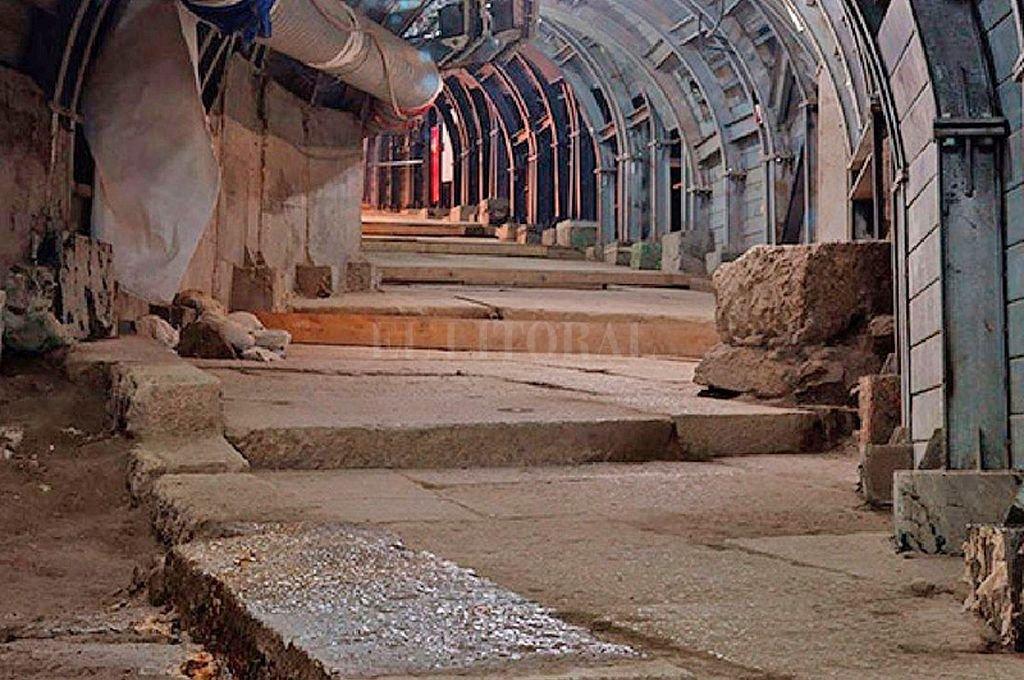 Tramo del camino descubierto en Jerusalem. <strong>Foto:</strong> Captura digital