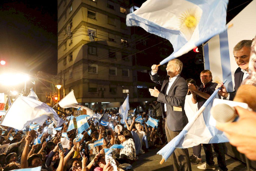 Macri en la marcha en Jujuy <strong>Foto:</strong> Télam