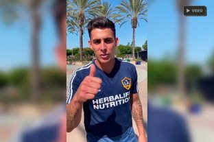 Video: Pavón le mandó saludos a los hinchas de Colón en la previa de la Final Única -  -