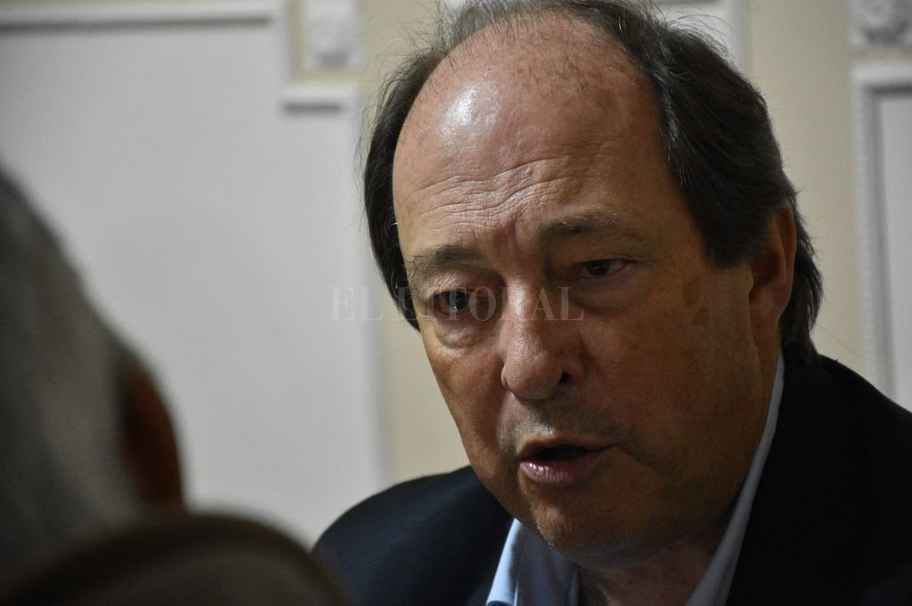 El dirigente nacional del radicalismo, Ernesto Sanz, un ex alumno de la Facultad de Derecho de la UNL.  Crédito: Luis Cetraro