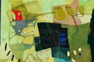 Abren dos muestras en el MMAV  - De Luis Gervasoni, Nº 482 acril. Lápiz color, tinta 100x100 cm. -