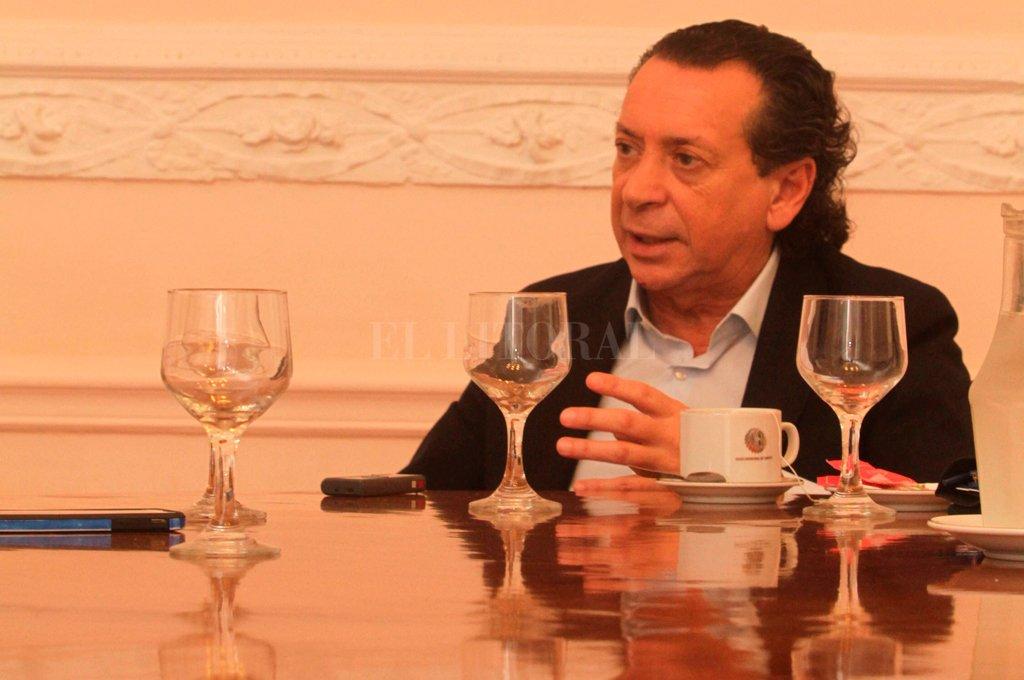 Dante Sica se reunió en la UISF con sectores vinculados a la producción.  Crédito: Mauricio Garín.
