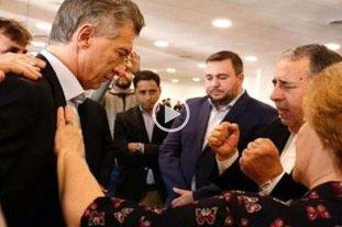 Video: Macri fue bendecido por un pastor evangélico