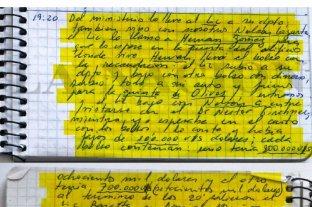 La Justicia recibió seis cuadernos y analizan si son los originales que escribió Centeno -  -