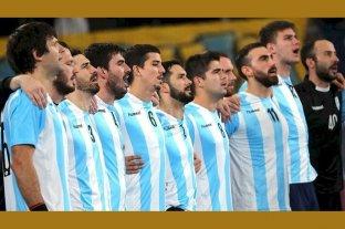 Handball: Los Gladiadores se lucieron cantando el Himno Nacional completo