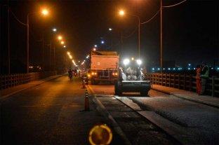 Retoman los trabajos nocturnos en el Puente Carretero
